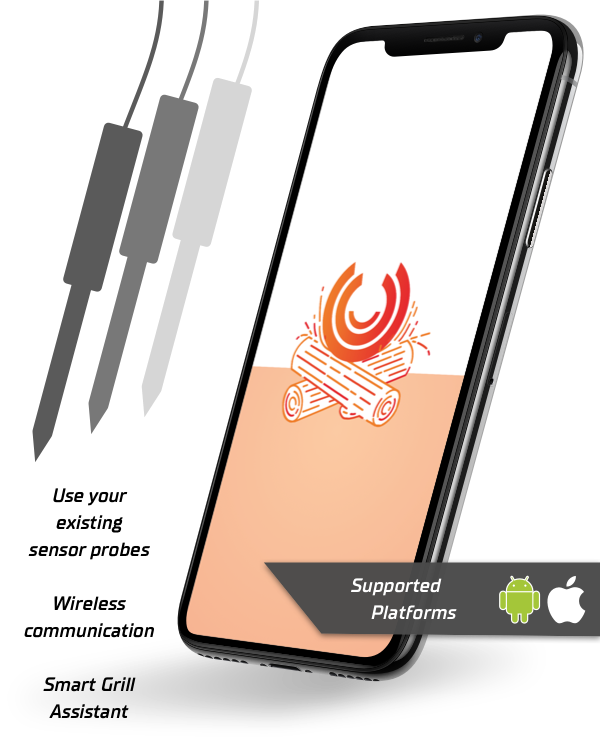 Sensatio Grill - Do It Yourself Grillthermometer - Fully digitally via WLAN & App. Better than classic wireless.